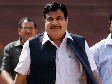 File image of Union road transport minister Nitin Gadkari. PTI