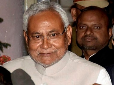 Patna: Bihar Chief Minister Nitish Kumar coming out of Budget session of Assembly in Patna on Tuesday. PTI Photo (PTI2_28_2017_000234B)