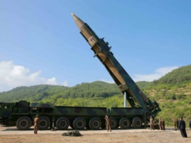 The intercontinental ballistic missile Hwasong-14. Reuters