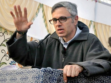 File image of Omar Abdullah. PTI