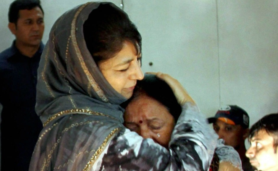 Mufti also consoled pilgrims in Srinagar while the Jammu and Kashmir government announced an ex-gratia of Rs six lakh for the families of the seven Amarnath pilgrims. PTI