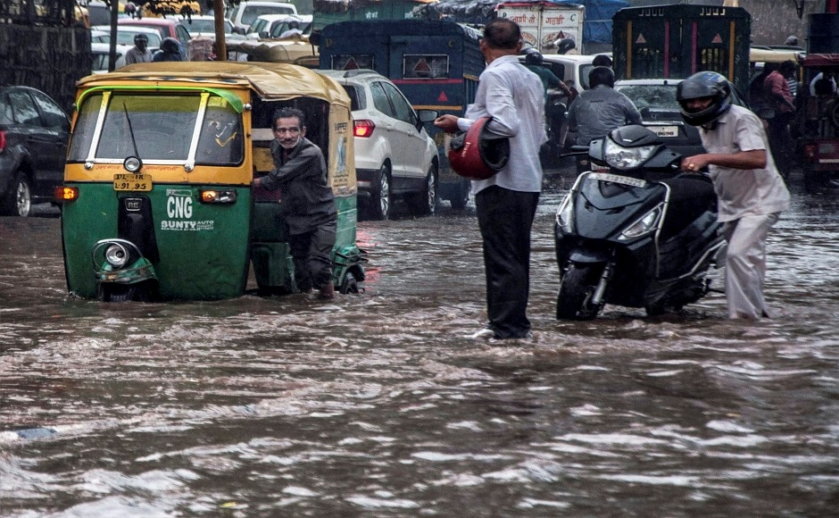 Water-logging was reported in parts of Delhi, including Lajpat Nagar, Dhaula Kuan, Ashram, Munirka and Geeta colony, among other places. PTI