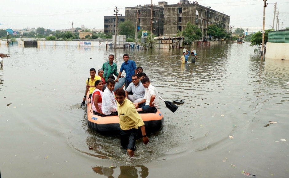 Gujarat flood relief Vijay Rupani govt cancels first anniversary plans