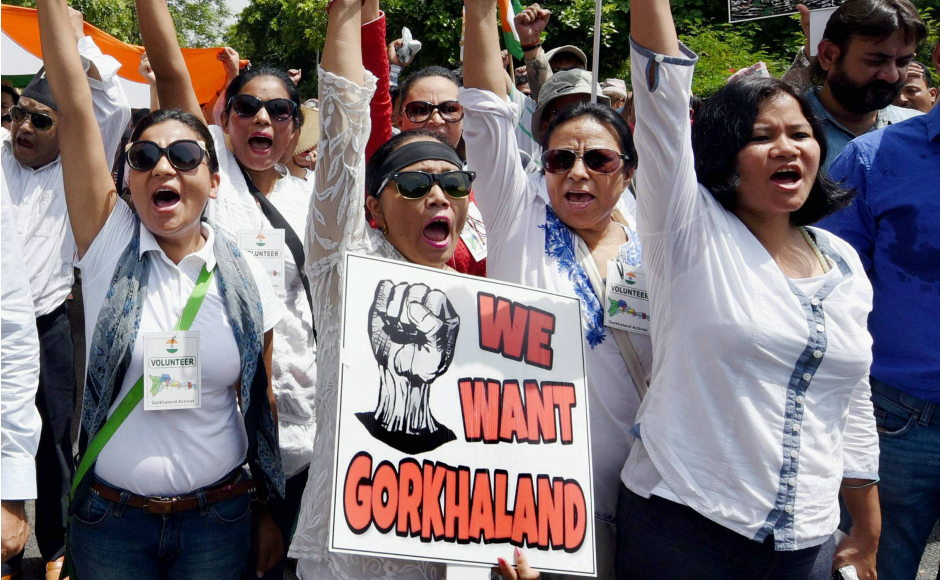 Gorkhaland supporters on Sunday took a march in New Delhi to push their demand for a separate state. PTI