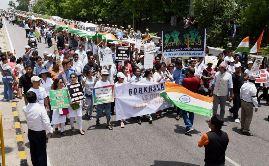 The protesters on Sunday held dharna at Jantar Mantar asserting that they will not settle for anything else than Gorkhaland. PTI