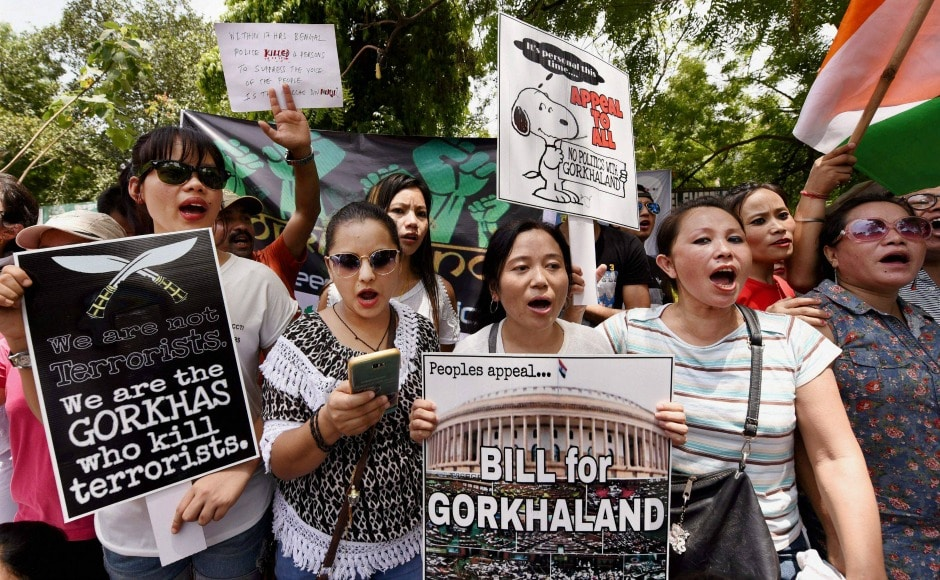 The protesters criticised BJP for its attitude before and after the elections and demanded a bill on Gorkhaland in the Lok Sabha. PTI