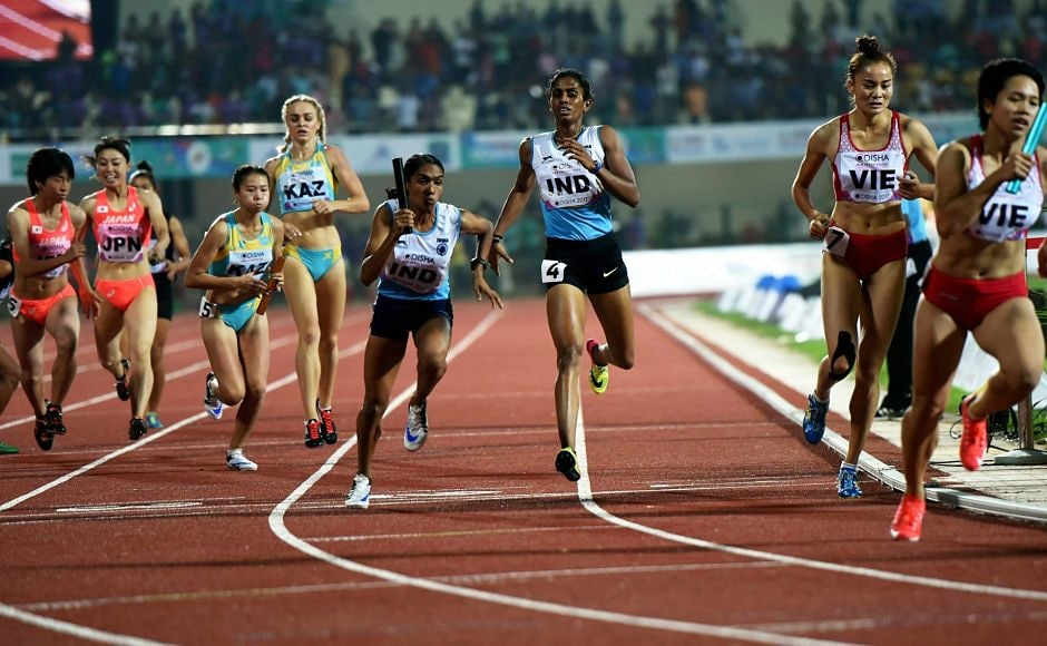 India won gold in the women's 4X400 final race. PTI