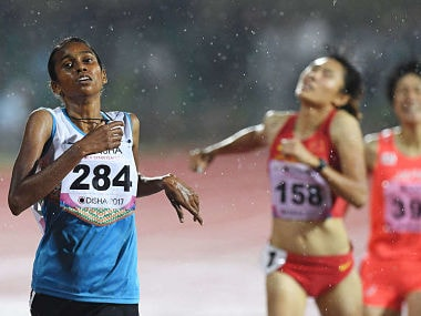 Image of PU Chitra, who has been left out of India's squad for World Athletics Championships. Image courtesy: Twitter/@vijayanpinarayi