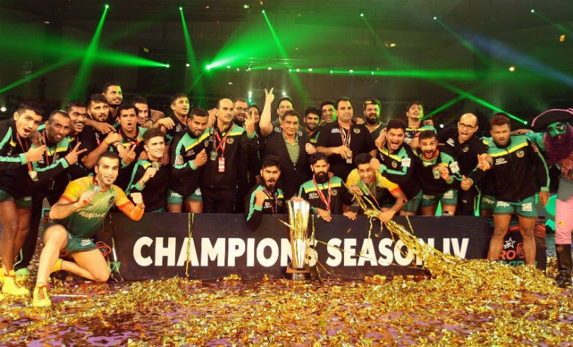Patna Pirates became the first team in the competition to win two titles. Image courtesy: ProKabaddi via Facebook