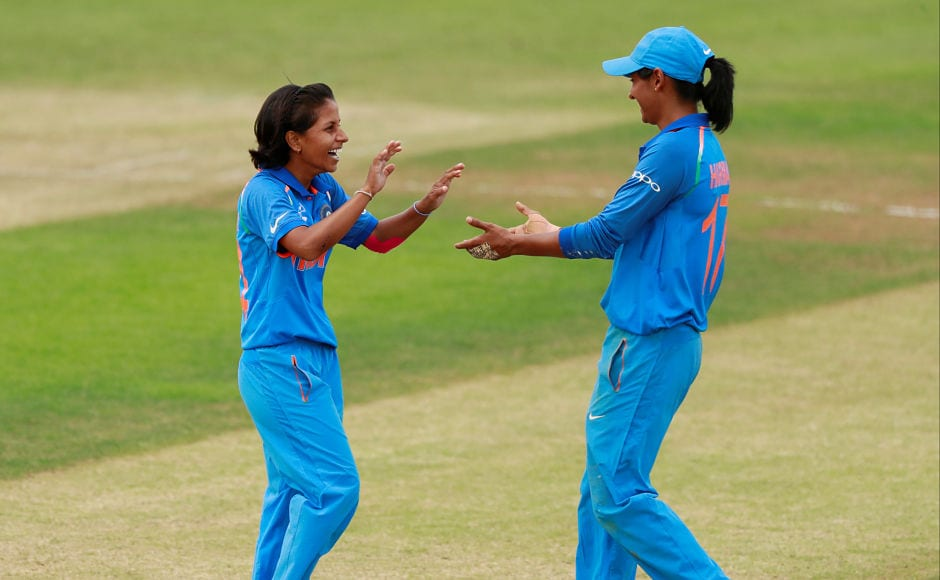 Poonam Yadav starred with the ball as she snared two wickets at an economy of 2.30. Reuters