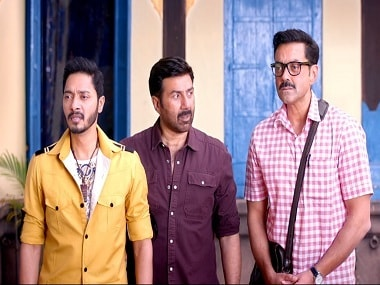 A still from Poster Boys starring Shreyas, Sunny and Bobby. Screengrab from YouTube