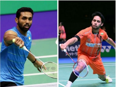File image of HS Prannoy and Parupalli Kashyap. AFP