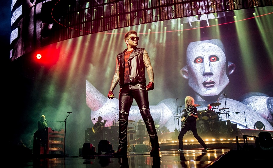 3/9 Adam Lambert, left, and Brian May of Queen. Photo by AP