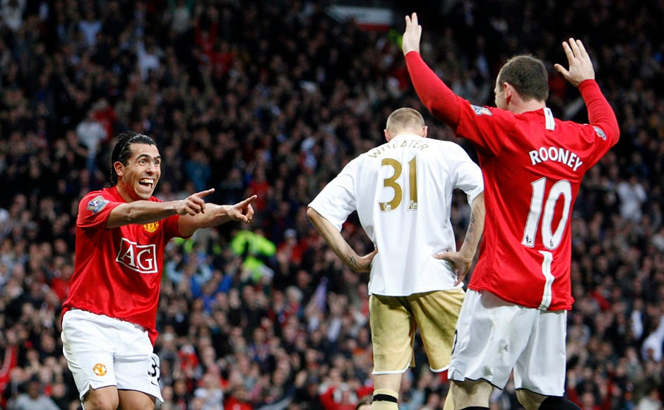 The Carlos Tevez and Wayne Rooney combo lit-up Old Trafford and had fans looking forward to a potent strike force for the future only for Tevez to join cross-town rivals Manchester City. Reuters