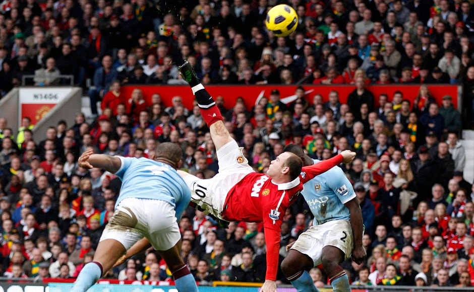 Perhaps his best goal in United colours, Rooney's stunning overhead kick goal against City was judged as the best goal in Premier League history at the Premier League 20 seasons awards. Reuters