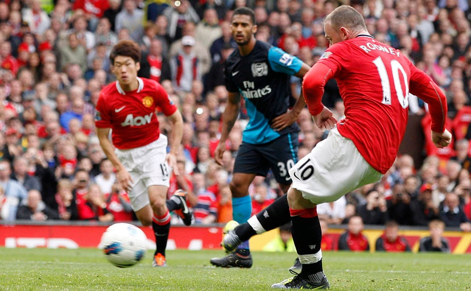 Rooney scored a hattrick in United's memorable 8-2 victory over Arsenal in the 2011-12 season. Reuters