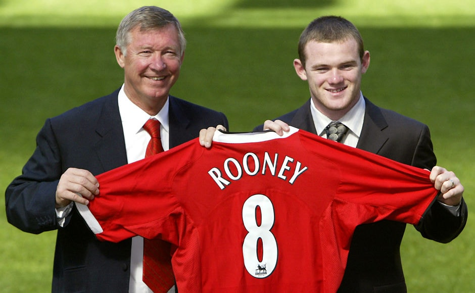 Wayne Rooney joined Sir Alex Ferguson's Manchester United in 2004 for 25 million pounds to become the most expensive teenager in Britain. Reuters
