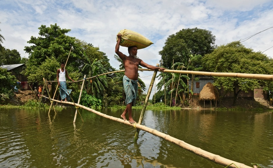 Over the past two weeks more than 2,500 villages in Assam have been inundated and 1,05,860 hectares of crop area affected. Reuters