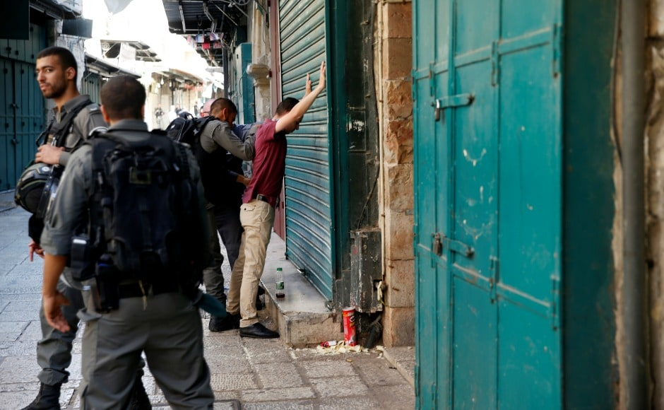 The three gunmen arrived at the sacred site, which stands on the edge of Jerusalem's Old City, and walked towards one of the nearby ancient stone gates, according to police spokeswoman Luba Simri. Reuters