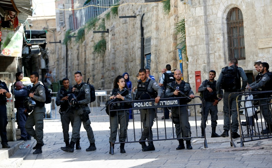 Palestinian president Mahmoud Abbas condemned the attack in a phone call with Israeli prime minister Benjamin Netanyahu, but also said closing down the area could have repercussions. Reuters