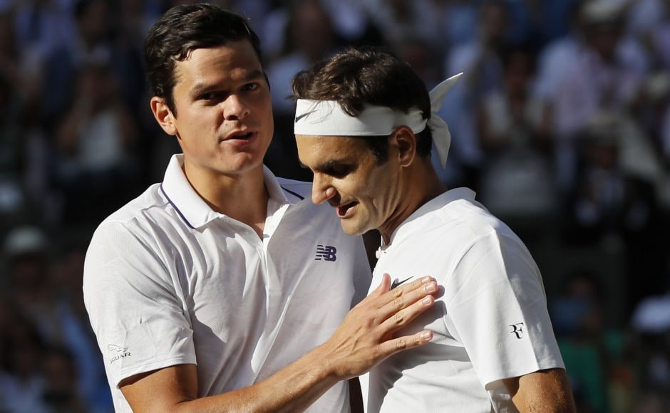 Seven-time champion Roger Federer beat Milos Raonic in the quarter-final. Raonic had beaten Federer in the semifinals last year. AP