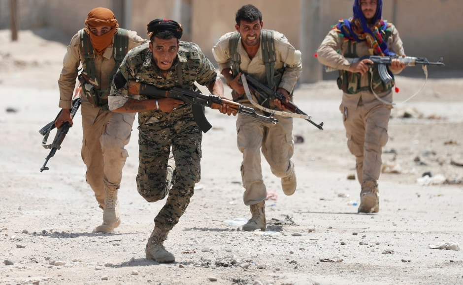 US-backed fighters pierced jihadist-held Raqqa from the south for the first time on Sunday, crossing the Euphrates River to enter a new part of the Syrian city. Reuters