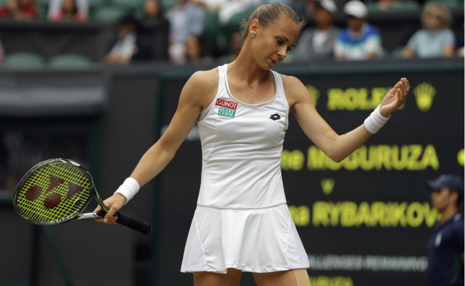 Even though Magdalena Rybarikova entered the semi-final having won 18 of her past 19 grass-court matches, she could not handle Muguruza's powerful groundstrokes. AP