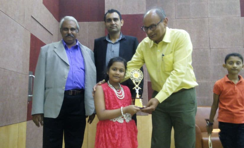 One of Sahithi's first trophies was at the under-9 Nationals in Ahmedabad.