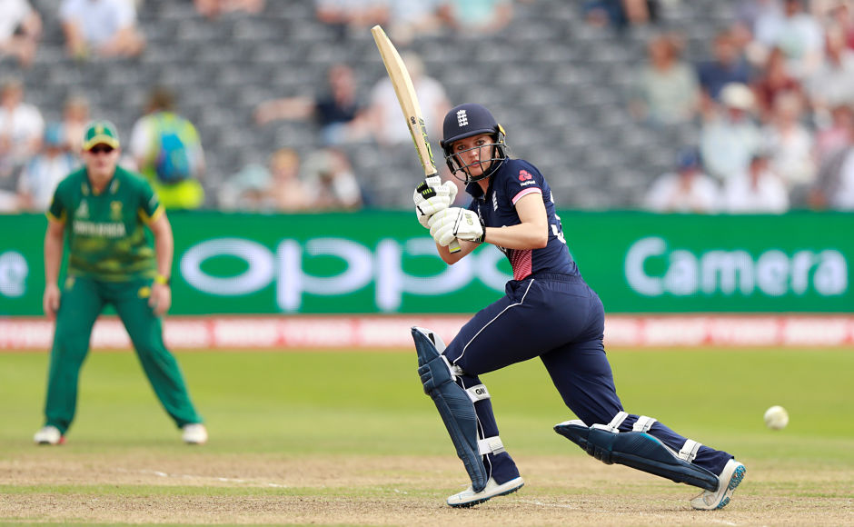 England's Sarah Taylor won the Player of the Match for slamming her 19th fifty. Reuters