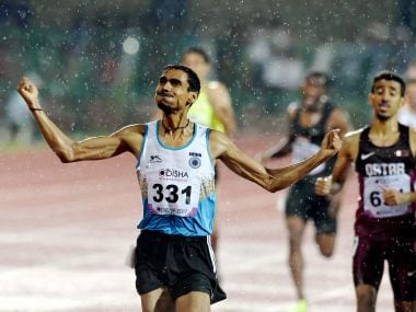 Ajay Kumar Saroj surprised everyone with a gold medal in men's 1500m. PTI