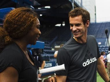 File image of Serena Williams (L) and Andy Murray (R). Reuters