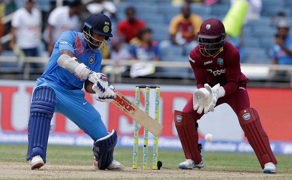 Shikhar Dhawan also didn't hold back his insticts as he scored his 23 runs at a strike rate of 191.67. AP