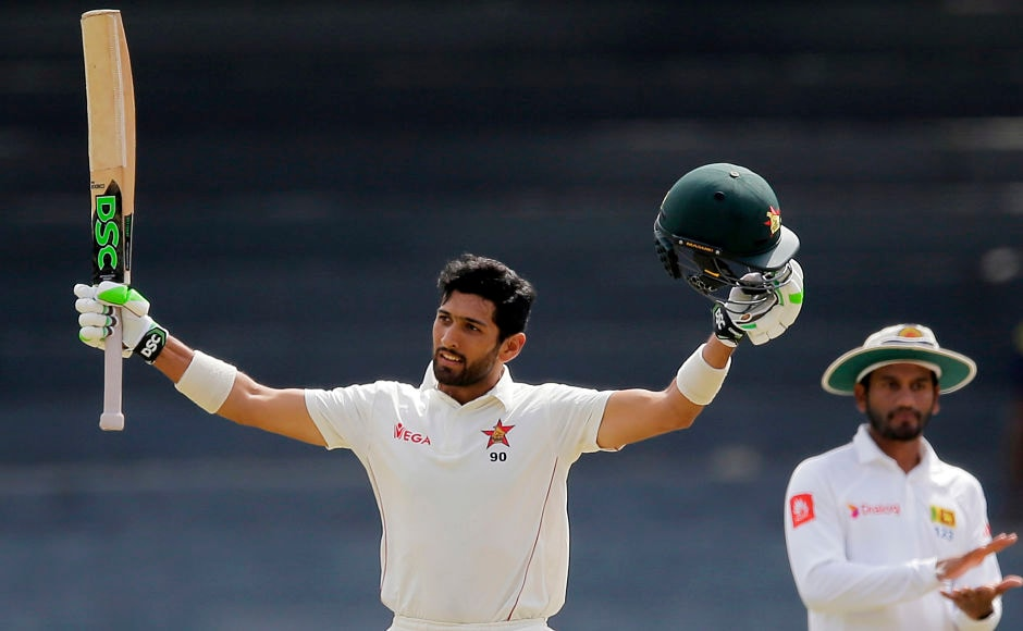 Sikandar Raza began the Day 4 by slamming his maiden Test century. AP