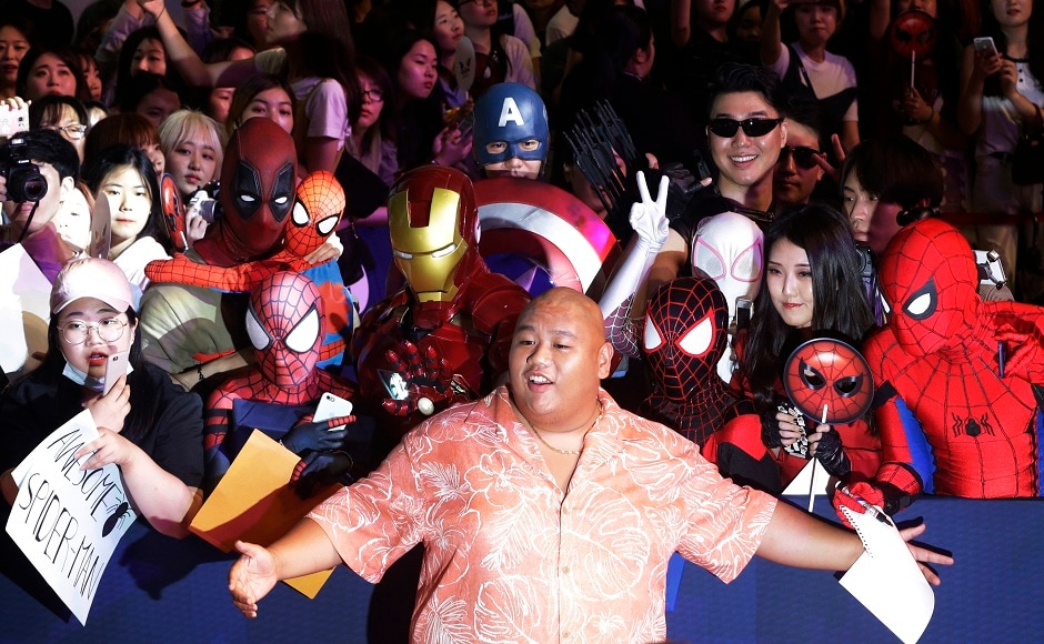 Actor Jacob Batalon poses during a promotional event for his latest film Spider-Man: Homecoming in Seoul, South Korea, Sunday, 2 July, 2017. The film will be released in South Korea on 5 July. (AP Photo/Ahn Young-joon)