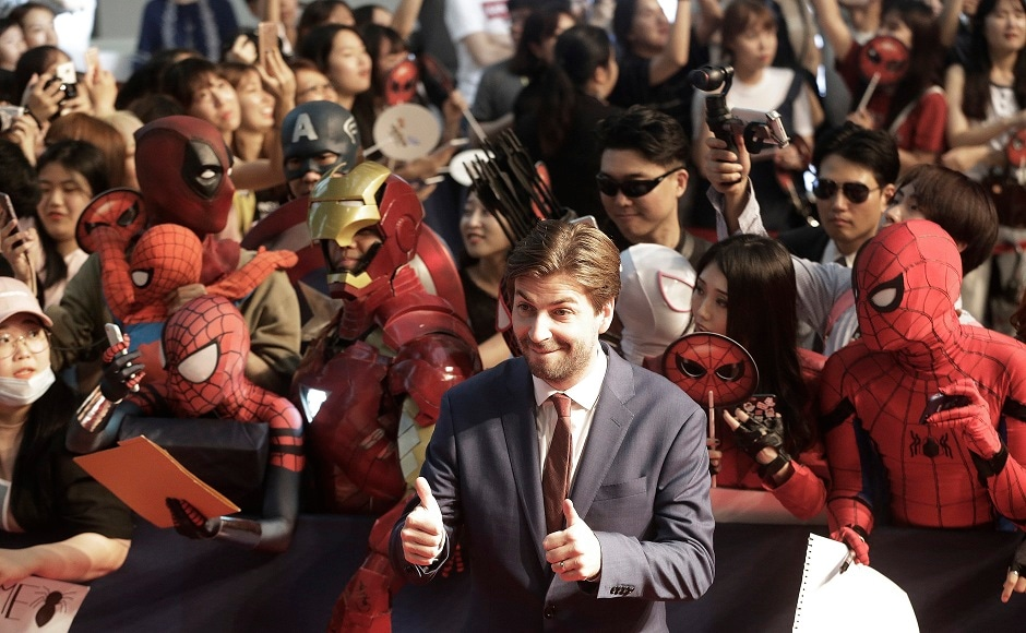 Director Jon Watts poses during a promotional event for his latest film Spider-Man: Homecoming in Seoul, South Korea, Sunday, 2 July, 2017. The film will be released in South Korea on 5 July. (AP Photo/Ahn Young-joon).
