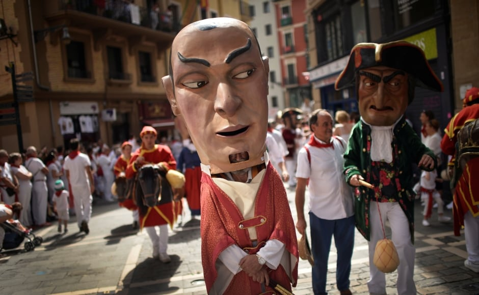 Over 1 million visitors are expected for the festival, five times Pamplona's population, eager to experience or see the morning runs or the afternoon corridas, where six bulls are scheduled to be killed each day. Reuters