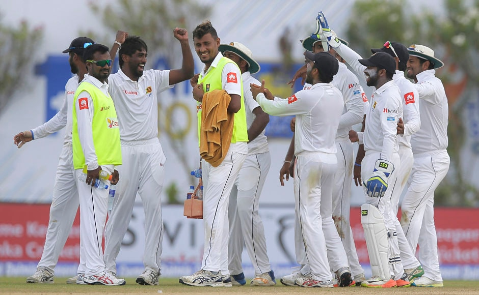 Sri Lanka got two wickets on either side of tea as Virat Kohli was sent back to the hut for 3. Nuwan Pradeep was the pick of the bowlers, he was Sri Lanka's only wicket-taker. AP