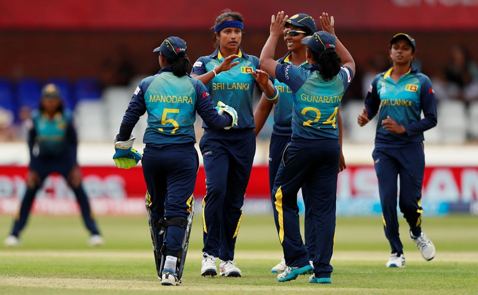 Sripali Weerakkody followed her captain a few overs later and dismissed Harmanpreet Kaur and Veda Krishnamurthy off consecutive balls. India posted 232/8. Reuters