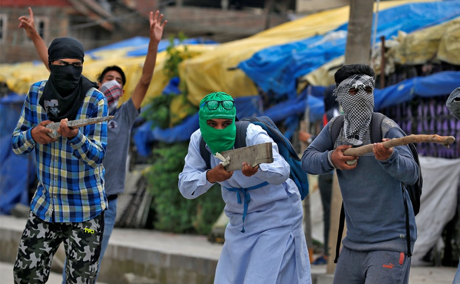 Stone pelters of Kashmir Here's a look at those behind masks