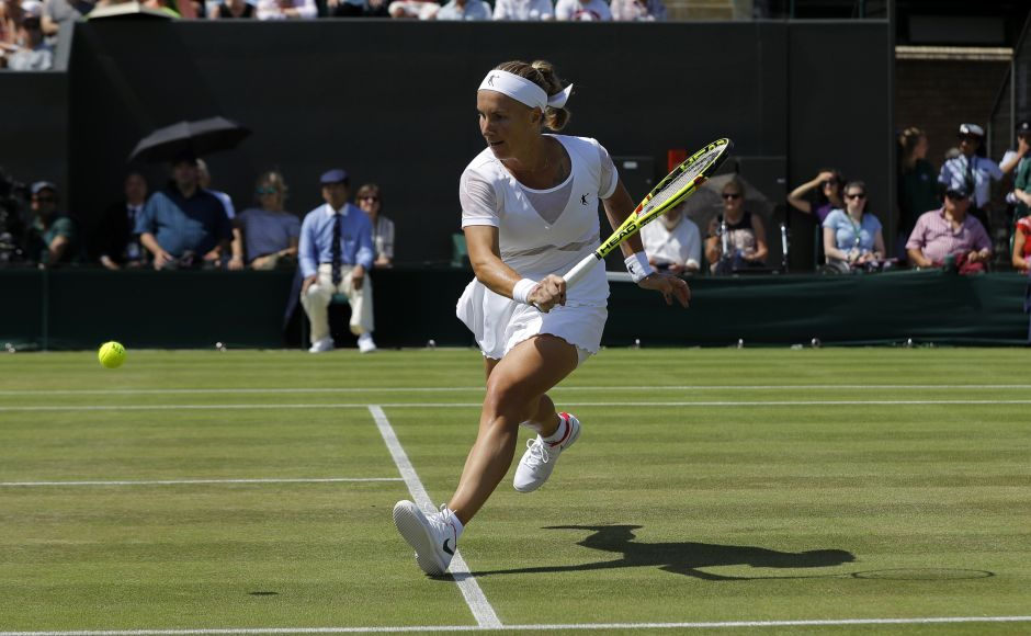 Seventh-seeded Svetlana Kuznetsova beat Agnieszka Radwanska to become the first player to reach the quarterfinals at Wimbledon 2017. AP