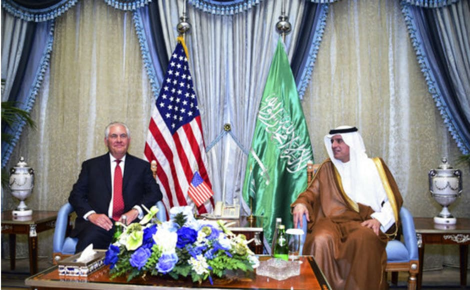 "After meeting the Saudi crown prince, a highly influential figure in regional politics, Tillerson stressed the two countries shared a ""strong partnership"". AP"