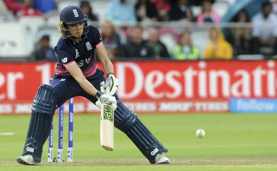 Sarah Taylor made a delightful 45 before falling to Goswami edging behind in the 33rd over. AP