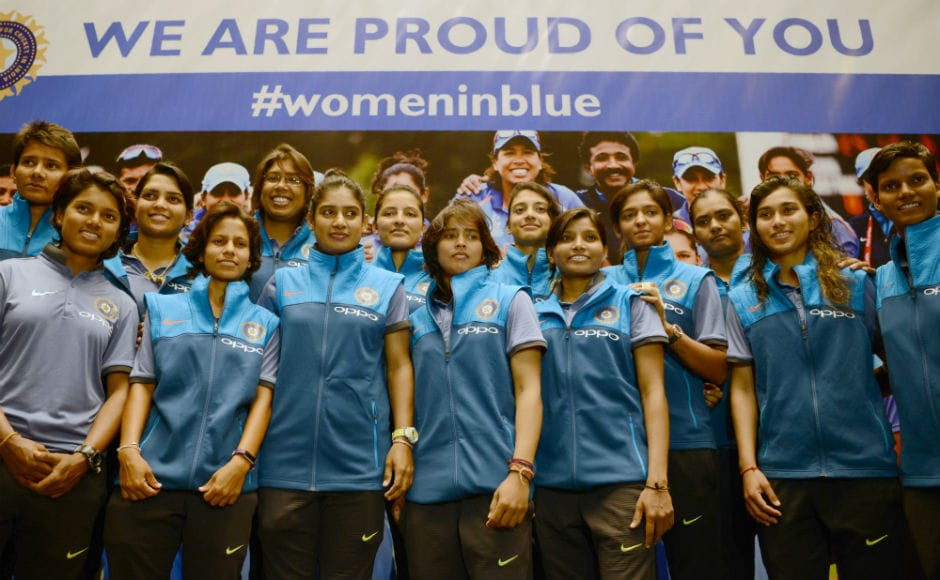 The Indian women's cricket team returned after a fine display at the ICC Women's World Cup in England. AFP