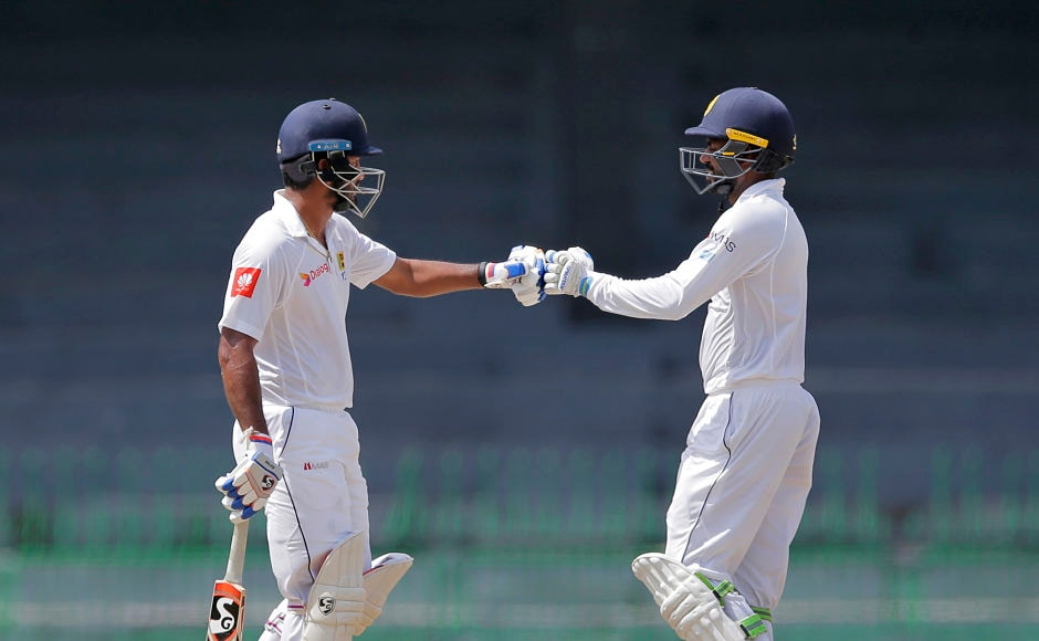 Upul Tharanga and Dimuth Karunaratne provided the perfect start for Sri Lanka and stitched together a 58-run stand. AP