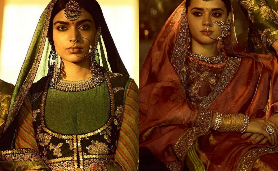 The second part, titled 'The Baroda Collection' is inspired by Raja Ravi Varma's portraits of the royal family of Baroda. Chanderis, maheshwari and tissue sarees dominate the collection. Image via Sabyasachi Mukherjee/Instagram