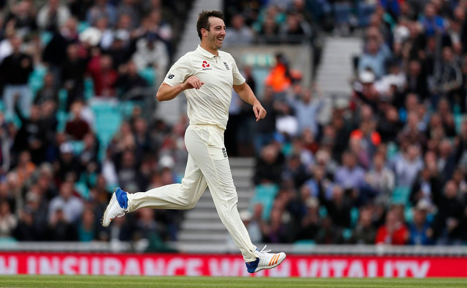 The day, though, belonged to Toby Roland-Jones, who scalped four wickets in his first 11 overs of Test cricket. AP