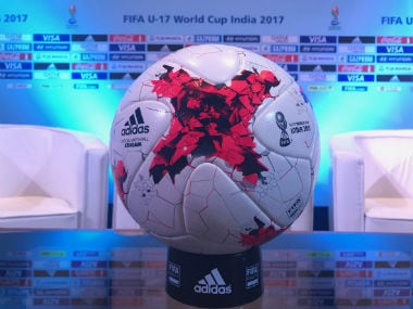 The official ball of the FIFA U-17 World Cup. Image courtesy: Twitter/@FIFAcom