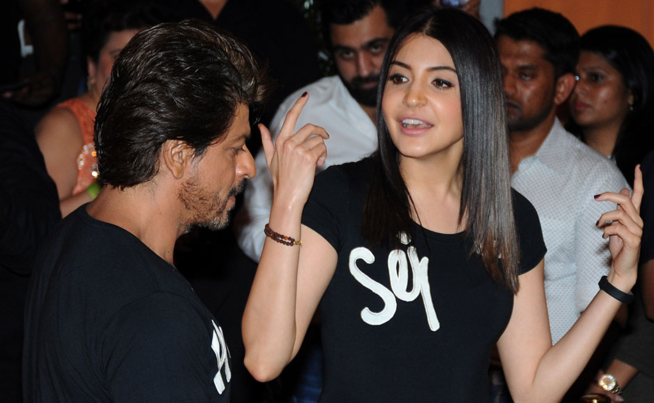 Shah Rukh and Anushka's camaraderie was on display, as they spoke about the shoot of Jab Harry Met Sejal. Photo: Sachin Gokhale/Firstpost