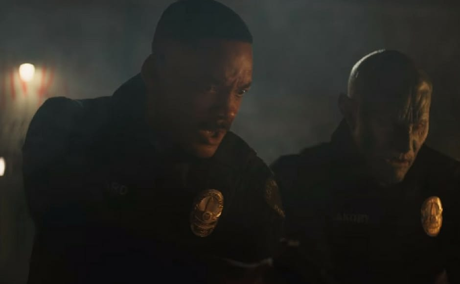 Will Smith stars as Scott Ward in Netflix's fantasy action film Bright directed by David Ayer. Image via Youtube