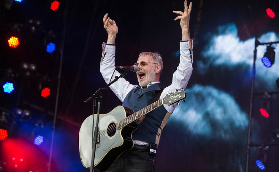 Steve Harley performs on Day 3 of Rewind Festival at Scone Palace in Perth, Scotland. (Getty Images)
